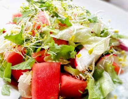 Salade de melon et artichauts crus