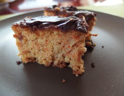 Cake aux carottes et  chocolat