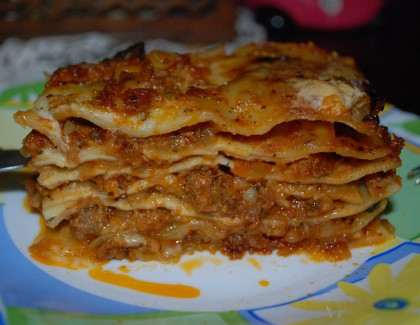 Lasagne au bœuf haché maison