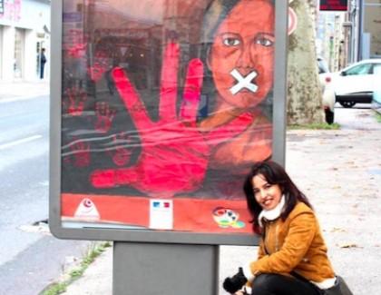 Naima El-melkaoui expose l'Art contre la violence