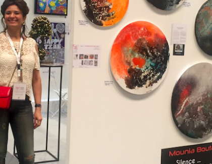 Mounia Boutaleb au Salon mondial d'Art de Dubai « World Art Dubai »