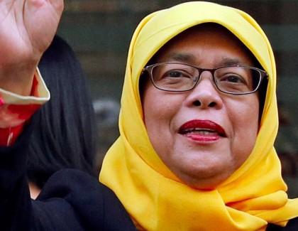 Halimah Yacob première présidente musulmane à Singapour