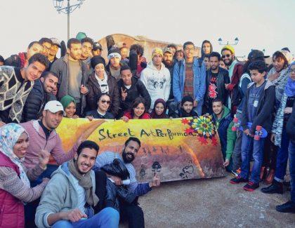 Une belle performance du Street Art aux Oudayas