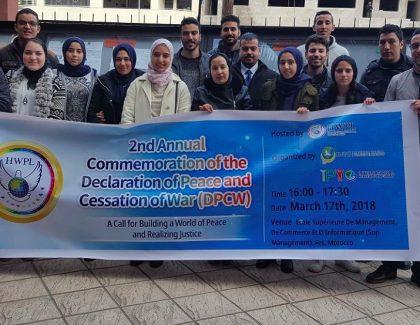 Des jeunes marocains oeuvrent pour une paix durable