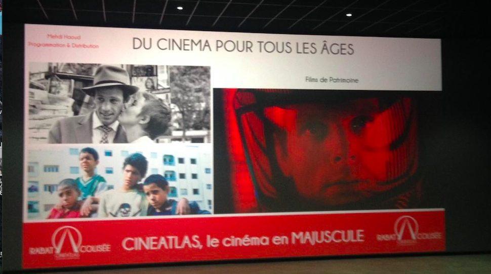 Sur l'écran noir du Rabat-CinéAtlas-Colisée…