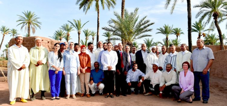 La princesse Lalla Hasnaa en visite dans la Palmeraie de Marrakech