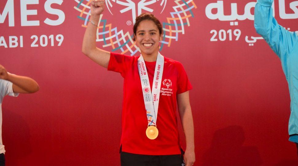 Les champions marocains au podium Special Olympics