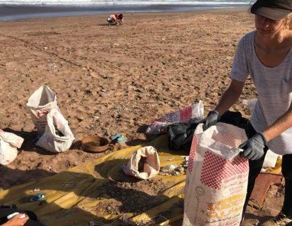 Environnement : Opération de nettoyage de la plage des Oudayas