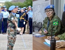 Deux femmes casques bleus récompenséespar l'ONU