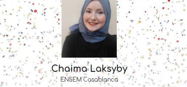 Chaïma Laksyby, prix de l'élève-ingénieure Maghreb 2021