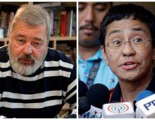 Maria Ressa et DmitriMuratov, Prix Nobel de la Paix